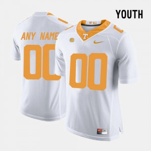 Youth UT #00 White College Limited Football Customized Jerseys 870804-842