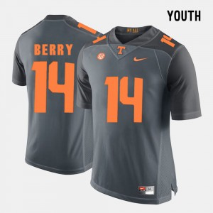 Youth TN VOLS #14 Eric Berry Grey College Football Jersey 807536-743