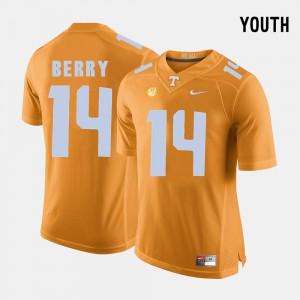 Kids Tennessee Vols #14 Eric Berry Orange College Football Jersey 457152-572