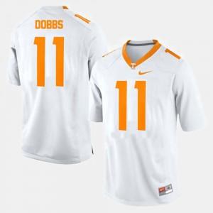 Men's UT #11 Joshua Dobbs White College Football Jersey 511086-899
