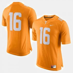 For Men's Tennessee #16 Peyton Manning Orange College Football Jersey 787887-646