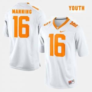 Kids TN VOLS #16 Peyton Manning White College Football Jersey 177393-161