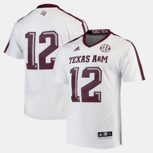 Men Aggies #12 White 2017 Special Games Jersey 819078-249