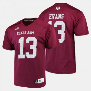 For Men's Texas A&M University #13 Mike Evans Maroon College Football Jersey 691815-117