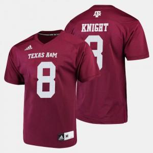 Men Texas A&M University #8 Trevor Knight Maroon College Football Jersey 681953-460