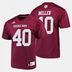 For Men's Texas A&M University #40 Von Miller Maroon College Football Jersey 860938-187