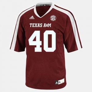 Men's Texas A&M University #40 Von Miller Red College Football Jersey 774991-800