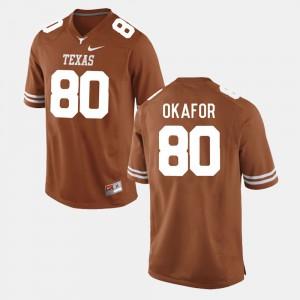 Men UT #80 Alex Okafor Burnt Orange College Football Jersey 512658-343