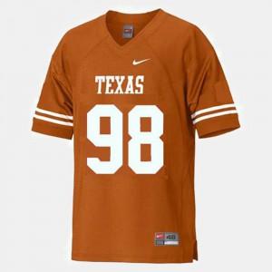 Youth Texas Longhorns #98 Brian Orakpo Orange College Football Jersey 595594-471