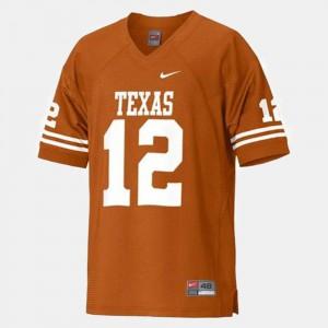Youth UT #12 Colt McCoy Orange College Football Jersey 592474-451