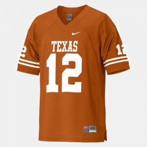 For Men's University of Texas #12 Colt McCoy Orange College Football Jersey 546350-918