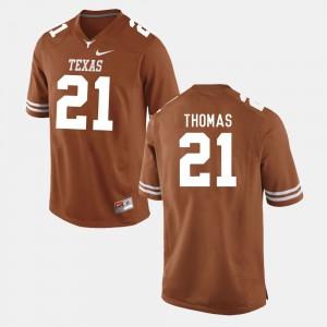 For Men's Texas Longhorns #21 Duke Thomas Burnt Orange College Football Jersey 661135-258