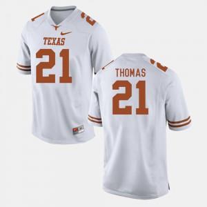 For Men University of Texas #21 Duke Thomas White College Football Jersey 266623-495