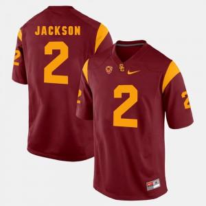 Men's USC Trojan #2 Adoree' Jackson Red Pac-12 Game Jersey 645182-243