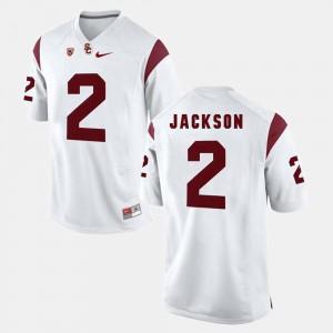 Mens USC #2 Adoree' Jackson White Pac-12 Game Jersey 693441-748