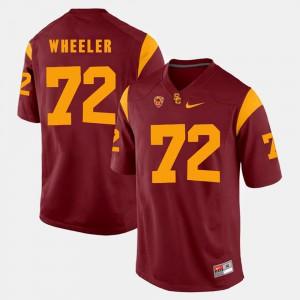 Men's Trojans #72 Chad Wheeler Red Pac-12 Game Jersey 812622-699