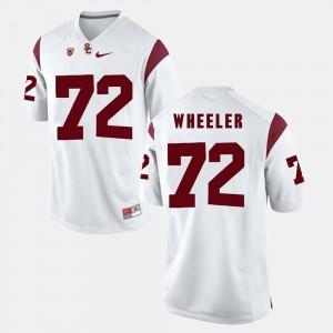 Men USC Trojans #72 Chad Wheeler White Pac-12 Game Jersey 459930-667