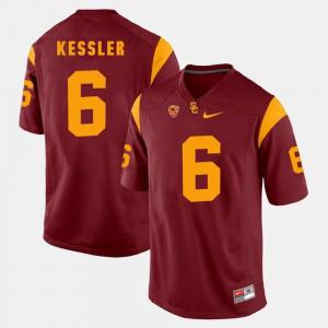 For Men's Trojans #6 Cody Kessler Red Pac-12 Game Jersey 539646-456