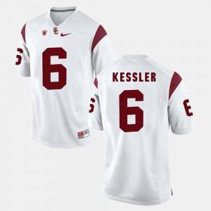 Men's USC #6 Cody Kessler White Pac-12 Game Jersey 494789-806