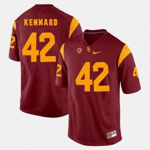 For Men Trojans #42 Devon Kennard Red Pac-12 Game Jersey 641334-835