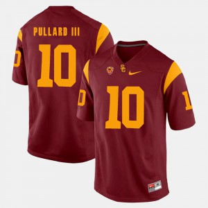 Mens USC Trojans #10 Hayes Pullard III Red Pac-12 Game Jersey 821564-663