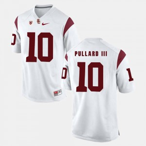 For Men Trojans #10 Hayes Pullard III White Pac-12 Game Jersey 443464-573