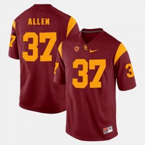 For Men's USC #37 Javorius Allen Red Pac-12 Game Jersey 546565-691