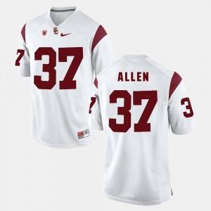 Men's Trojans #37 Javorius Allen White Pac-12 Game Jersey 838767-900