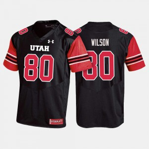 For Men Utes #80 Siaosi Wilson Black College Football Jersey 135773-171