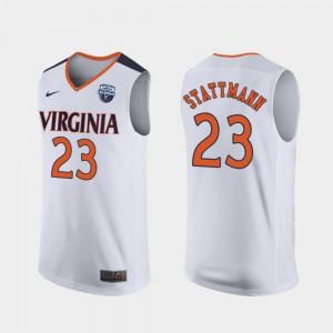 For Men Virginia #23 Kody Stattmann White 2019 Men's Basketball Champions Jersey 512229-260