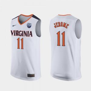 Mens University of Virginia #11 Ty Jerome White 2019 Men's Basketball Champions Jersey 936258-366