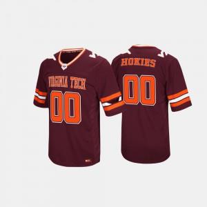 For Men Virginia Tech Hokies #0 Maroon Hail Mary II Jersey 911585-683