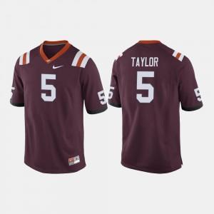 Men's Hokie #5 Tyrod Taylor Maroon College Football Jersey 472205-949