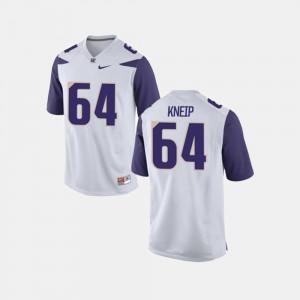 Mens Washington #64 A.J. Kneip White College Football Jersey 557338-613