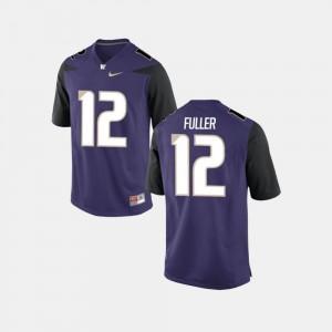 Mens UW Huskies #12 Aaron Fuller Purple College Football Jersey 529281-615