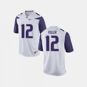 Men's UW Huskies #12 Aaron Fuller White College Football Jersey 863922-610