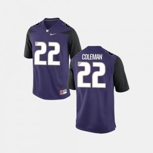 For Men's UW #22 Lavon Coleman Purple College Football Jersey 898731-238