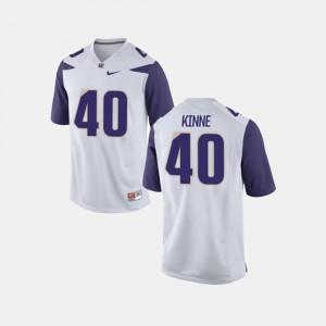 Men UW #40 Ralph Kinne White College Football Jersey 666892-681