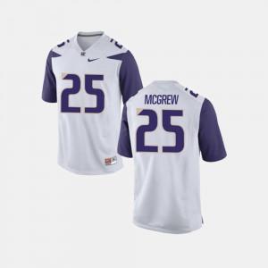 For Men's UW #25 Sean McGrew White College Football Jersey 158370-719
