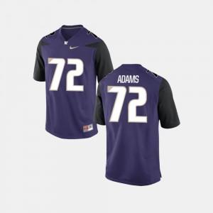 Mens UW #72 Trey Adams Purple College Football Jersey 555199-148