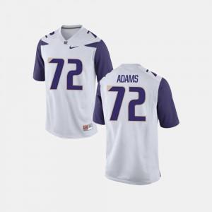 Men's UW #72 Trey Adams White College Football Jersey 917268-714