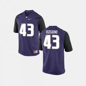 Men University of Washington #43 Tristan Vizcaino Purple College Football Jersey 531990-756