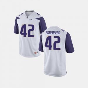 Men's Washington Huskies #42 Van Soderberg White College Football Jersey 792816-170