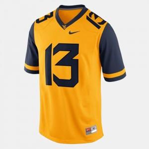 Men West Virginia University #13 Andrew Buie Gold College Football Jersey 334844-777