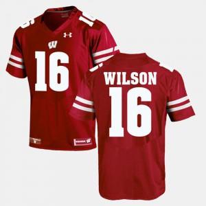 Men Badgers #16 Russell Wilson Red Alumni Football Game Jersey 133256-546