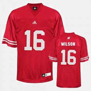 Men UW #16 Russell Wilson Red College Football Jersey 591569-253
