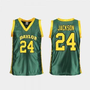 Ladies Baylor #24 Chloe Jackson Green Replica College Basketball Jersey 908330-758