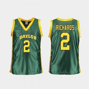 For Women Baylor University #2 DiDi Richards Green Replica College Basketball Jersey 966970-487