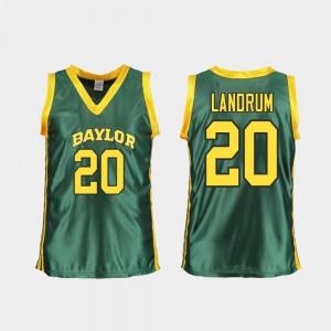 For Women's Baylor Bears #20 Juicy Landrum Green Replica College Basketball Jersey 875502-489