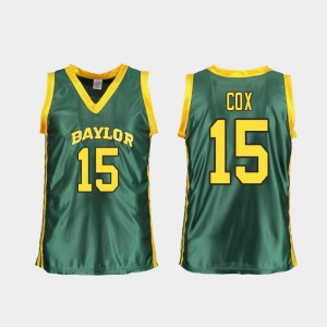 For Women's Baylor University #15 Lauren Cox Green Replica College Basketball Jersey 929078-162